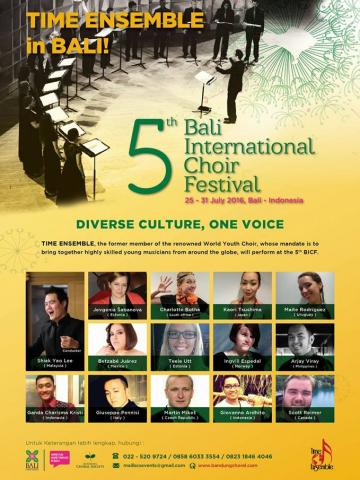 Bali International Choir Festival Poster 2016